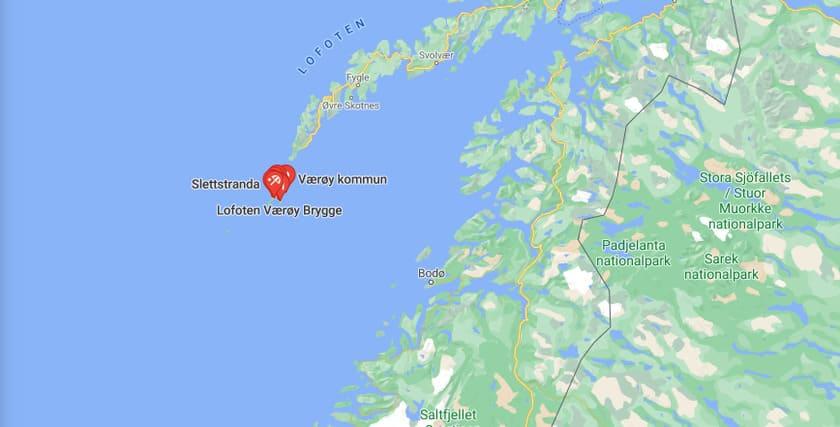 Karta Værøy